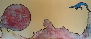 5- HEM,plongeon astral,2013,acrylique et énamel,laminé,54x24,1800$
