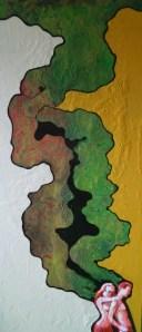 7- HEM,Vague à l'âme,2013,acrylique et énamel sur laminé,24x54,1800$
