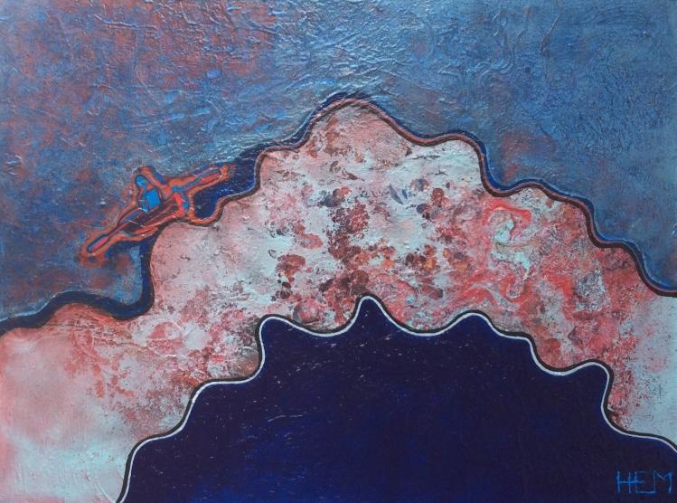 15-Insoucieux, HEM, 2016, Acrylique et mixtes, 2200$