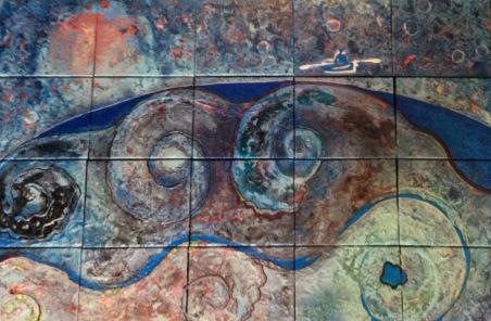 20- 20 000 cieux, HEM, 2016, Acrylique et mixtes, (20X) 10''X12'', 3000$