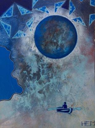 4- cieux, HEM, 2016, Acrylique et mixtes, 30''X40'', 1500$