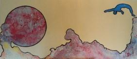 HEM,plongeon astral,2013,acrylique et énamel,laminé,54x24,1800$