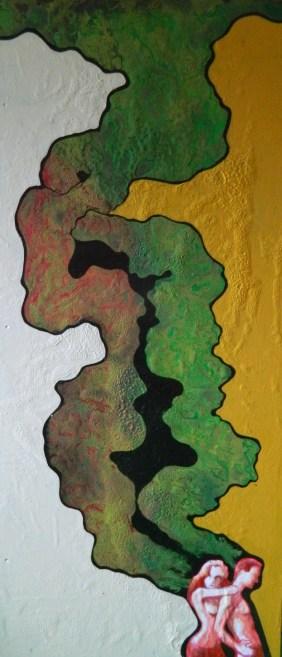 HEM,Vague à l'âme,2013,acrylique et énamel sur laminé,24x54,1800$